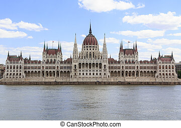 The hungarian parliament in Budapest, Hungary
