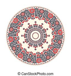 Hungarian round ornament 10 - Traditional Hungarian round...