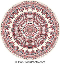 Hungarian round ornament 9 - Traditional Hungarian round...
