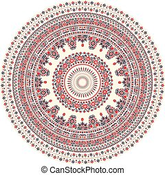 Hungarian round ornament - Traditional Hungarian round...