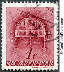 HUNGARY - 1939: shows Crown of St. Stephen