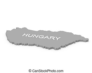 hungary 3d map