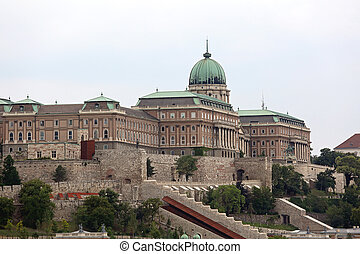 Hungary Buda Castle - Historic Royal Buda Palace at Castle...