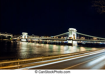 Hungary-Budapest Chain Bridge