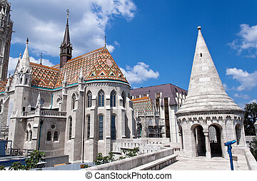 Hungary, Budapest, Matthias Church. City View