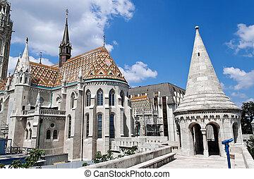 Hungary, Budapest, Matthias Church.