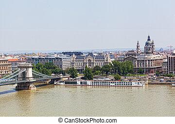 Hungary, Budapest, view of Sacred Stephane's basilica