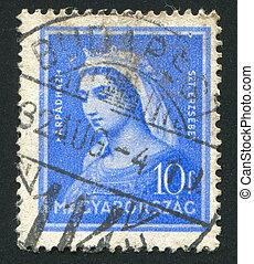 Elizabeth - HUNGARY - CIRCA 1932: stamp printed by Hungary, ...