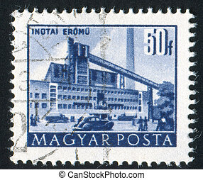 Metal Works - HUNGARY - CIRCA 1952: stamp printed by...