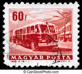 HUNGARY - CIRCA 1963 Trolleybus - HUNGARY - CIRCA 1963: A...