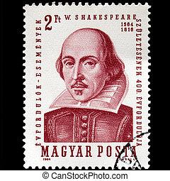 Shakespeare Stamp - HUNGARY CIRCA 1964 - Shakespeare Stamp,...
