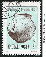Artefact - HUNGARY - CIRCA 1987: stamp printed by Hungary, ...