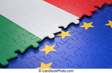 Hungary European Union Puzzle Flag