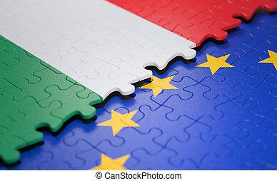 Hungary European Union Puzzle Flag