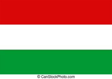 Hungary Flag - 2D illustration of the flag of Hungary vector