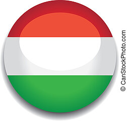 hungary flag button