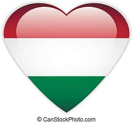 Hungary flag button.