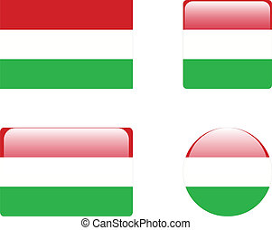 Hungary flag & buttons