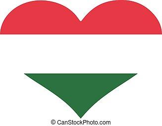 Hungary flag heart