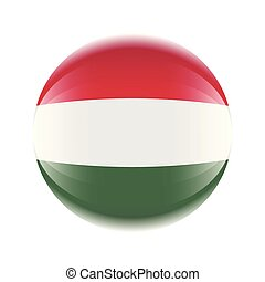 Hungary flag icon in the form of a ball. Vector eps 10