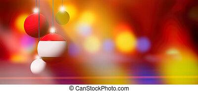 Hungary flag on Christmas ball with blurred and abstract background.