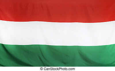 Hungary Flag real fabric seamless close up