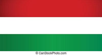 Hungary Flag. Vector illustration.
