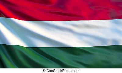 Hungary flag. Waving flag of Hungary 3d illustration