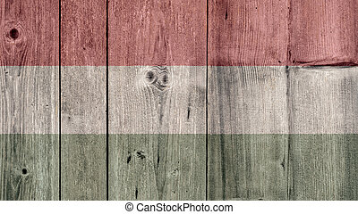 Hungary Flag Wooden Fence