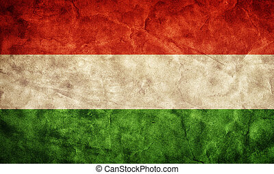 Hungary grunge flag. Item from my vintage, retro flags collection
