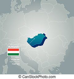 Hungary information map.