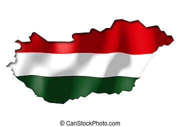 Hungary - map and flag illustration.