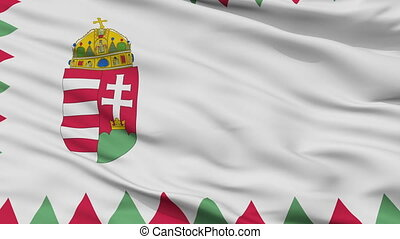 Hungary Naval Ensign Flag Closeup Seamless Loop - Naval ...