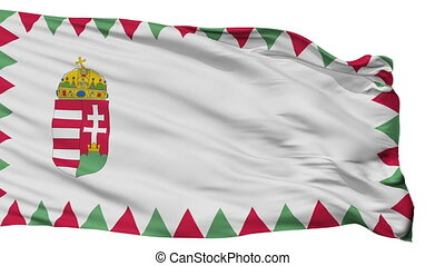 Hungary Naval Ensign Flag Isolated Seamless Loop - Naval ...