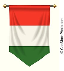 Hungary Pennant - Hungary flag or pennant isolated on white