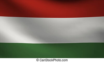 hungary flag waving gently in wind