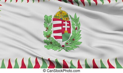 Hungary War Flag Closeup Seamless Loop - War Hungary Flag,...