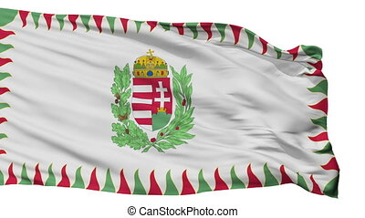 Hungary War Flag Isolated Seamless Loop - War Hungary Flag,...