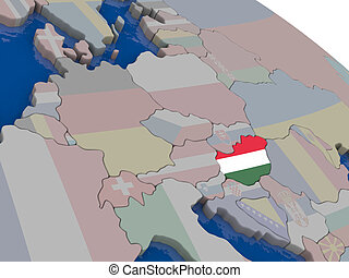 Hungary with flag