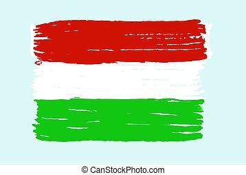 Hungary's national flag. Vector illustration - Hungary's ...