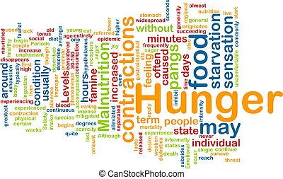 Hunger background concept - Background concept illustration ...