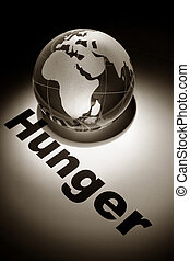 Hunger - globe, concept of Global Hunger issues