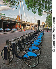 hungerford, puente de londres, lambeth, bicycles