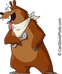 hungrig, björn