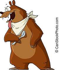 Hungry bear - Hungry Bear on a white background, vector ...
