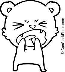 hungry cartoon bear