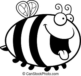 Hungry Cartoon Bee