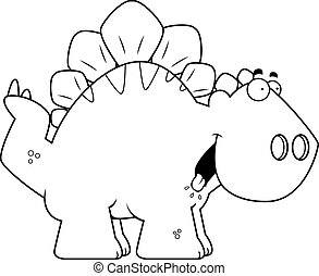 Hungry Cartoon Stegosaurus