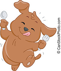 Hungry Dog Mascot - Mascot Illustration Featuring a Hungry...