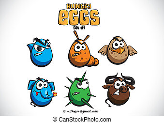 Hungry eggs set